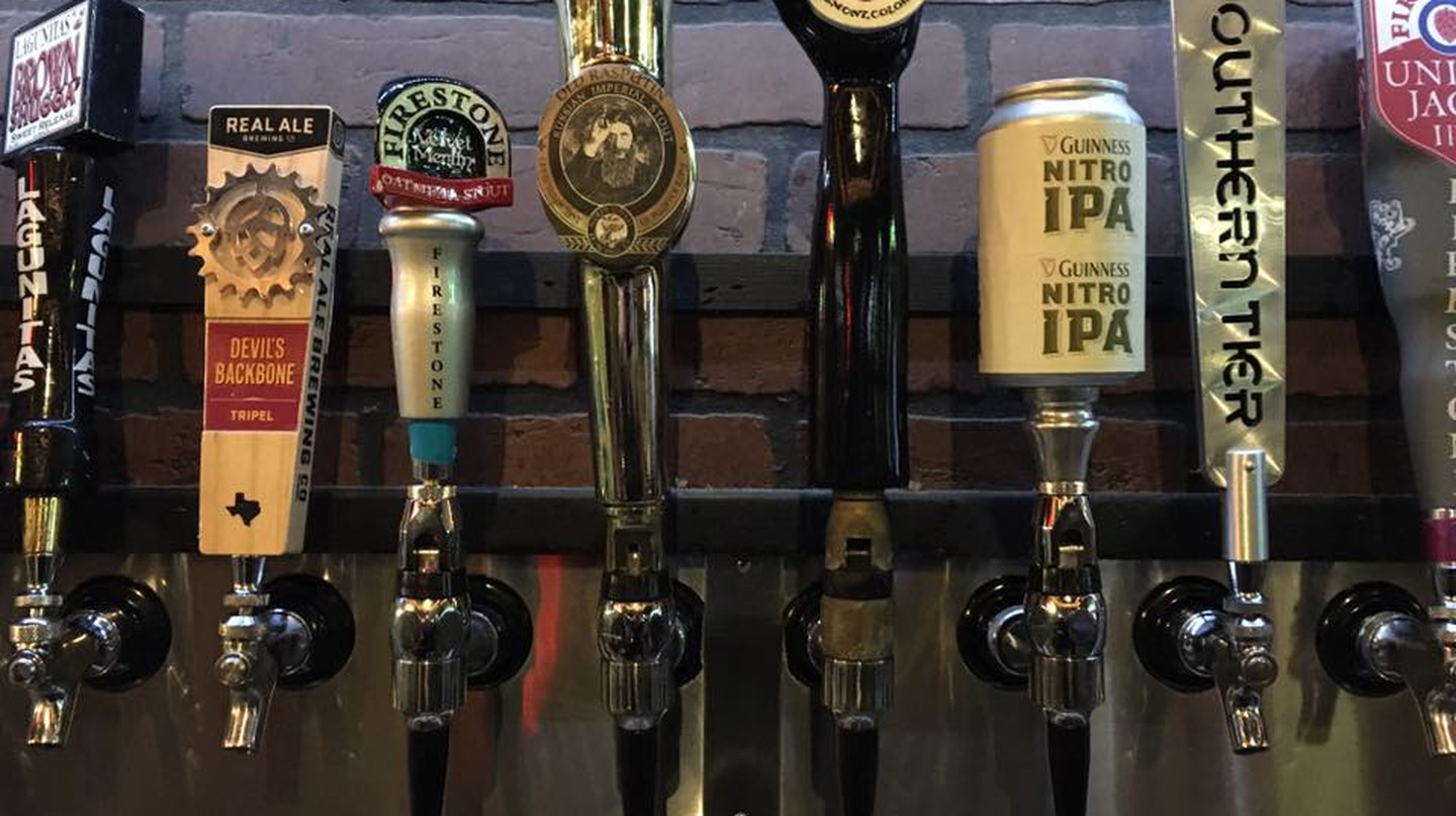 Tap Handles | Courtesy of Tapology Texas Pub