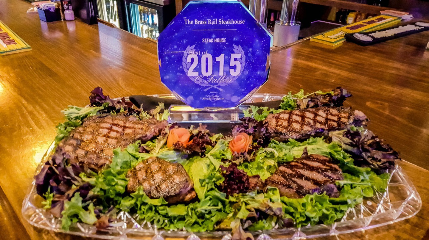 The Brass Rail's Best Steakhouse Award | Courtesy The Brass Rail Steakhouse