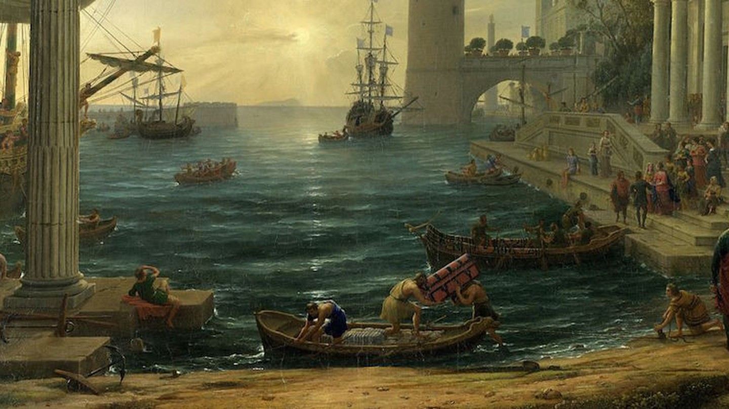 A detail of The Embarkation of the Queen of Sheba, 1648 | © National Gallery | WikiCommons