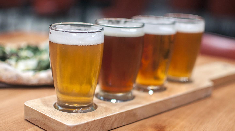 Beer flight | Courtesy of Mohawk Bend