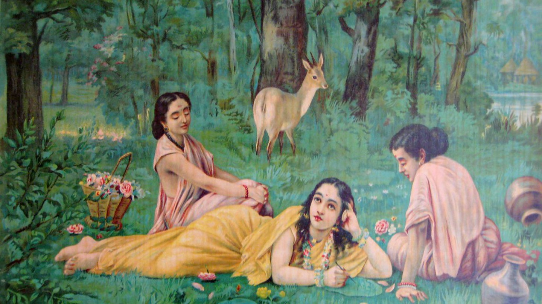 Shakuntala and Two Women via Wiki Commons