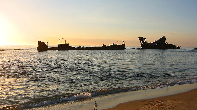 Moreton Island shipwrecks © WikiCommons