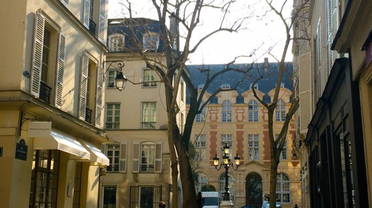 View of Abbey Palace from Place de Furstenberg | © Hattie Ditton