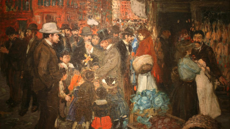 Street Scene (Hester Street) by George Benjamin | © Brooklyn Museum/WikiCommons