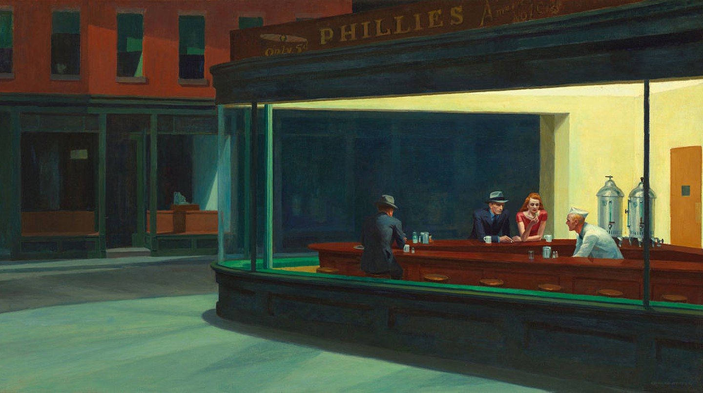 Nighthawks by Edward Hopper 1942 | © The Art Institute of Chicago/WikiCommons