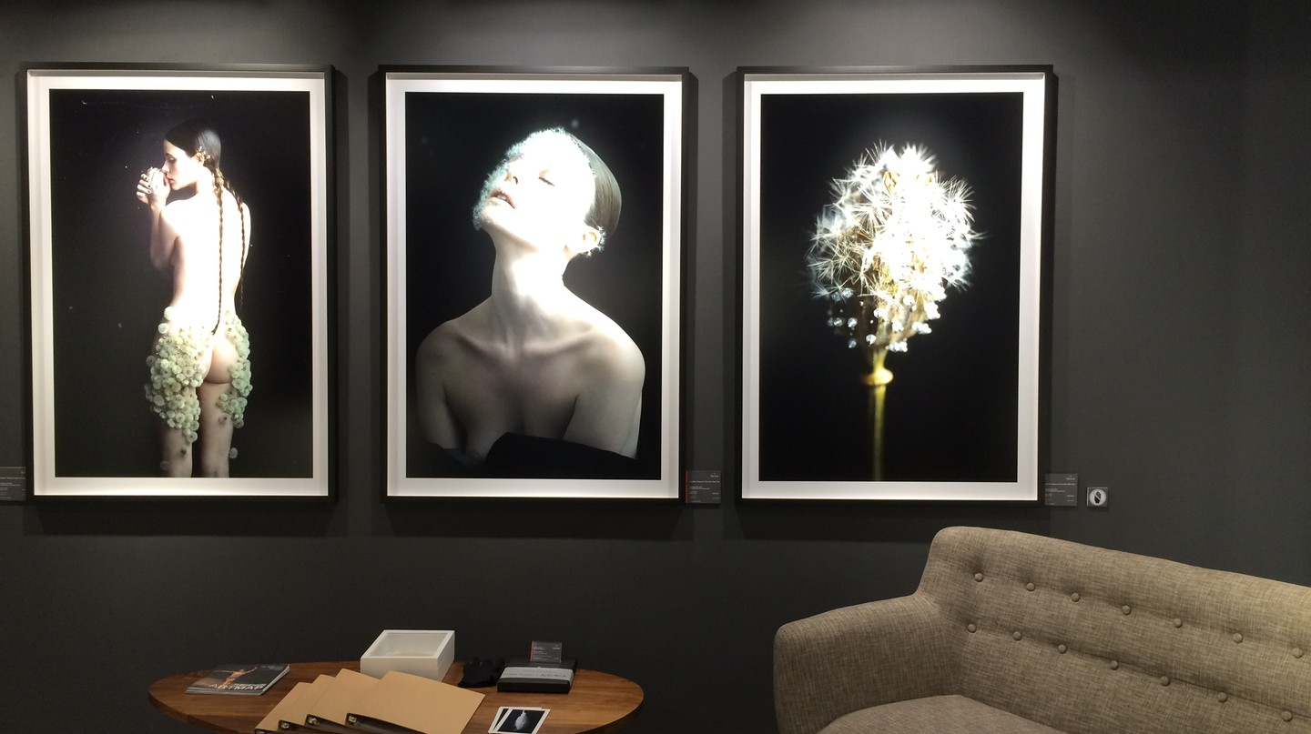 [From left to right] Dandelion #0, Dandelion #07, Dandelion #06 by Duy Anh Nhan Duc at La Galerie Paris 1839
