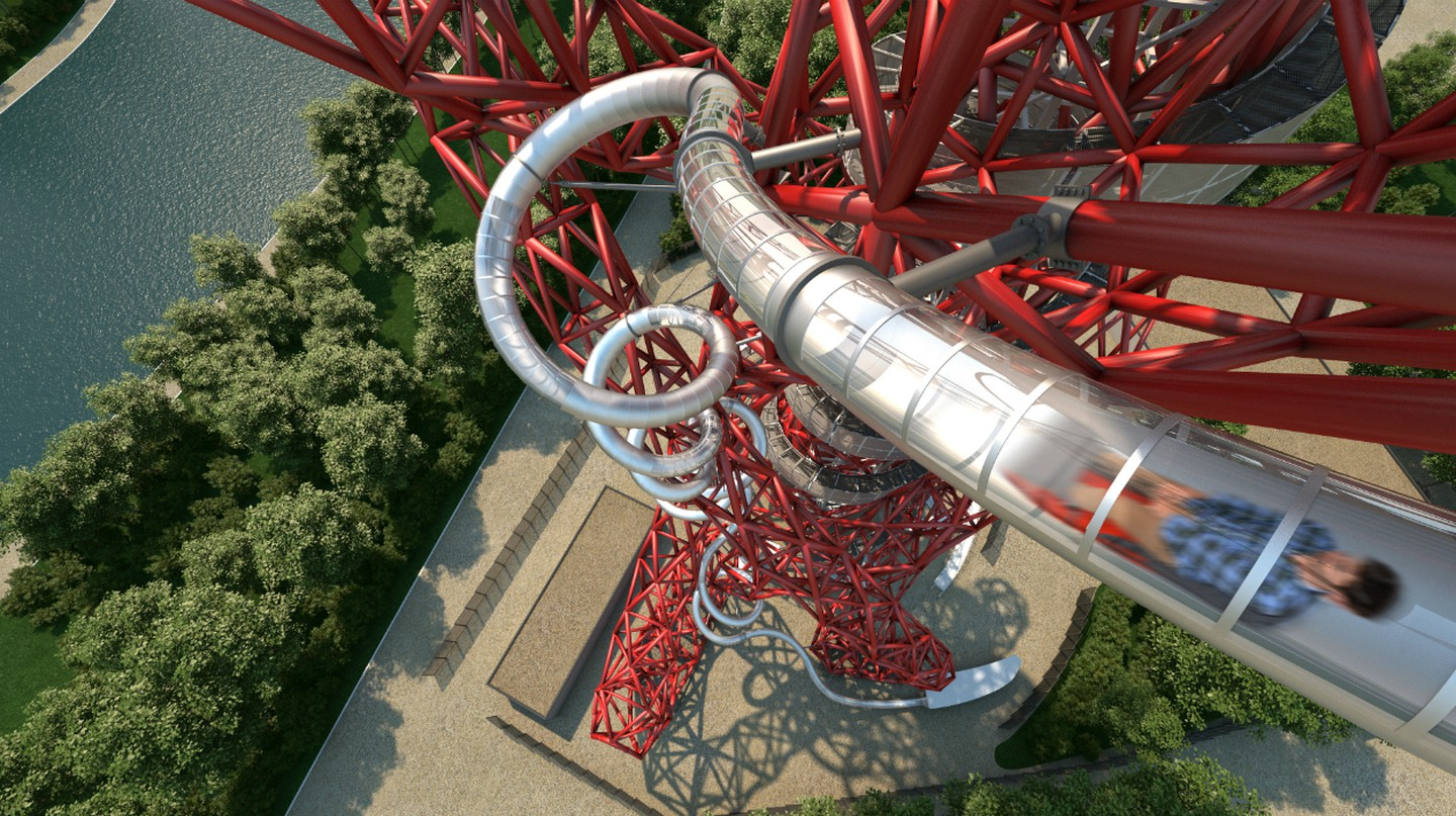 Original CGI of The Slide at ArcelorMittal Orbit | Courtesy of Queen Elizabeth Olympic Park