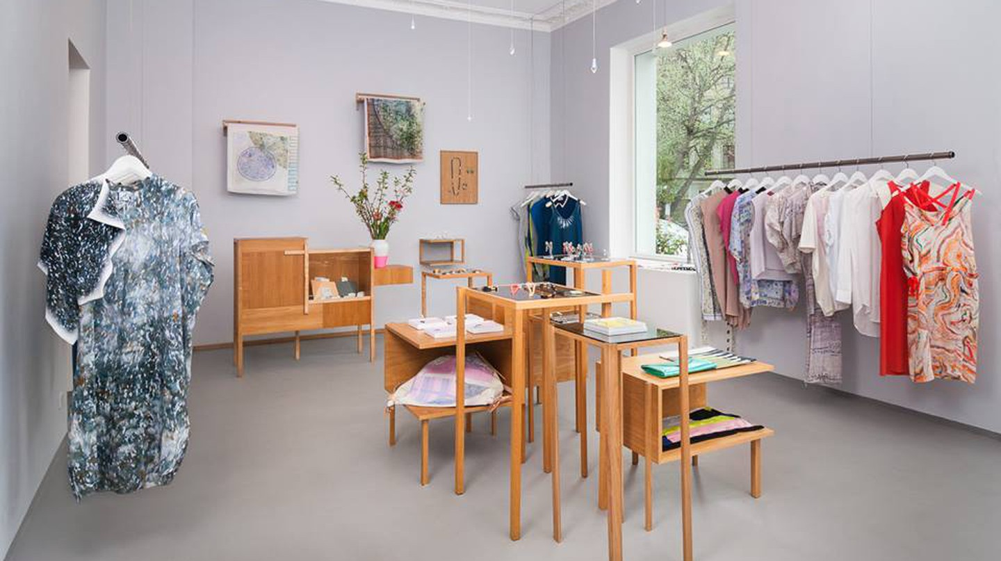 Inside the small but lovely luxury store, Konk in Berlin