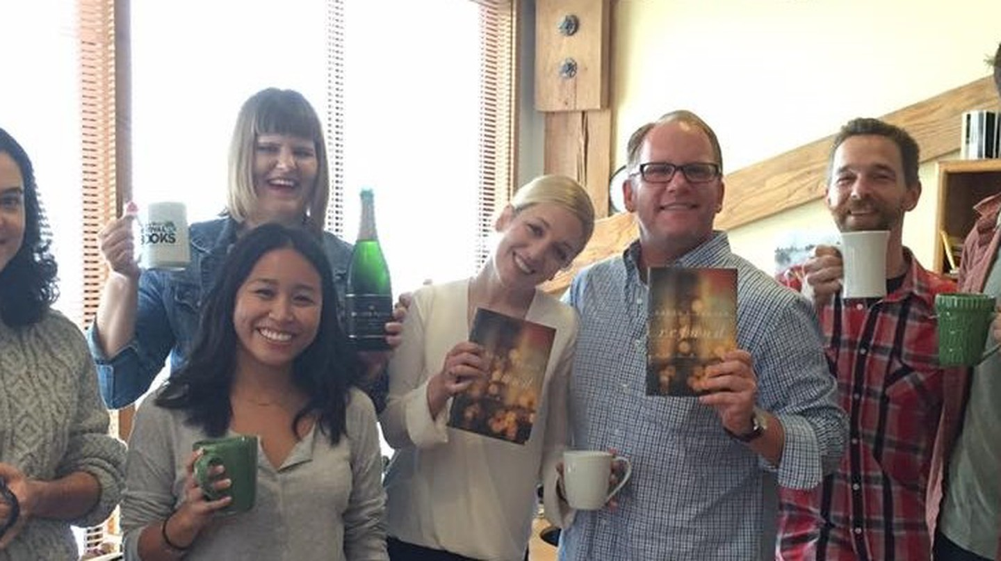 The Counterpoint team celebrates National Book Award finalist Karen Bender/ All photos courtesy of Dan Smetanka, executive director and vice president