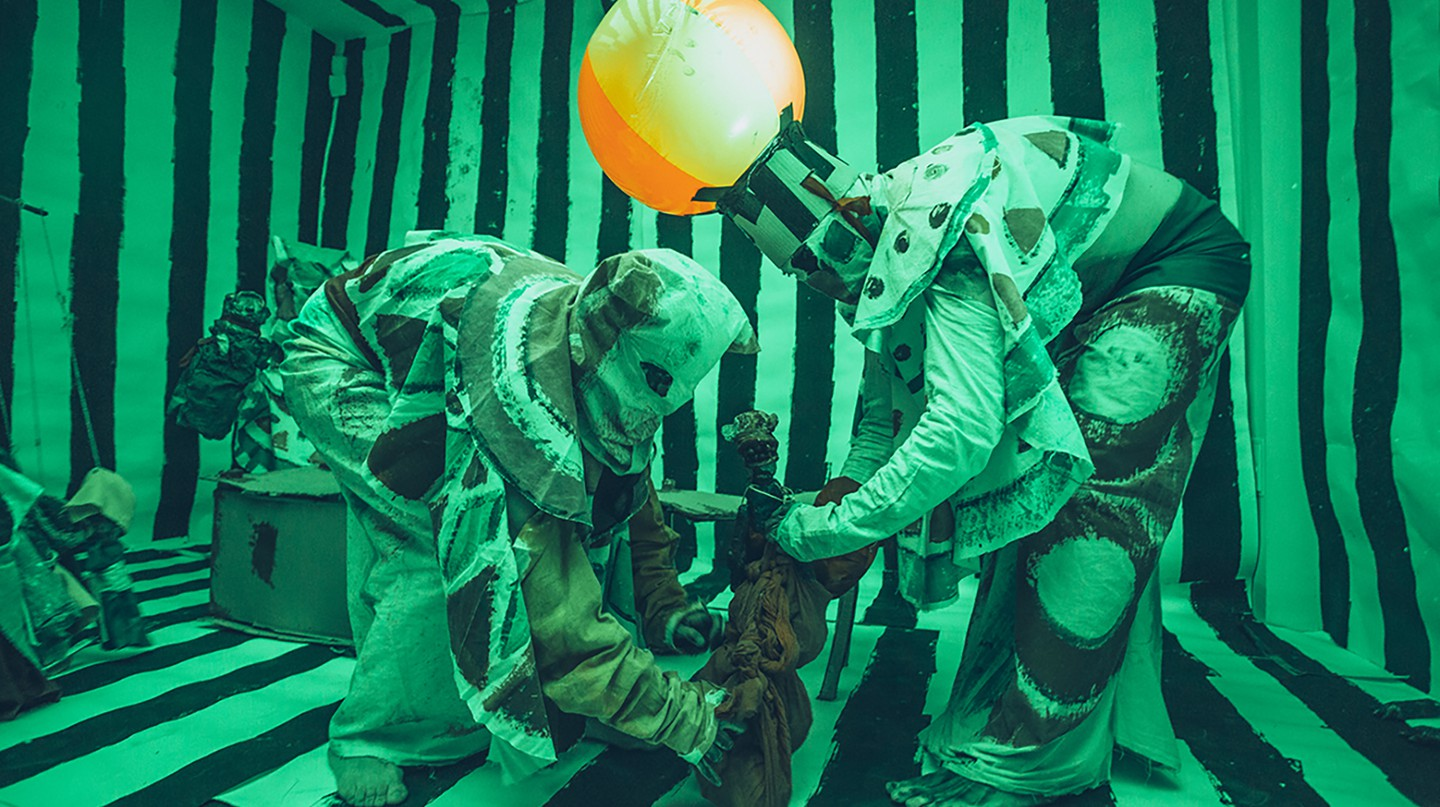 Marvin Gaye Chetwynd Jesus and Barabbas puppet show 9 October 2014|Courtesy of Liverpool Biennial