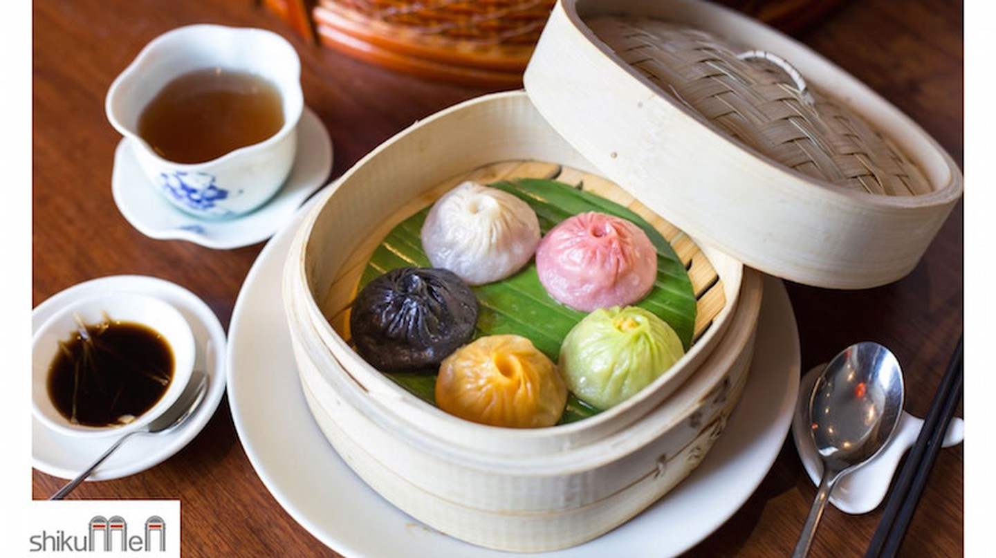 Shikumen are providing a new selection of coloured Xiao Long Bao (soup dumplings)