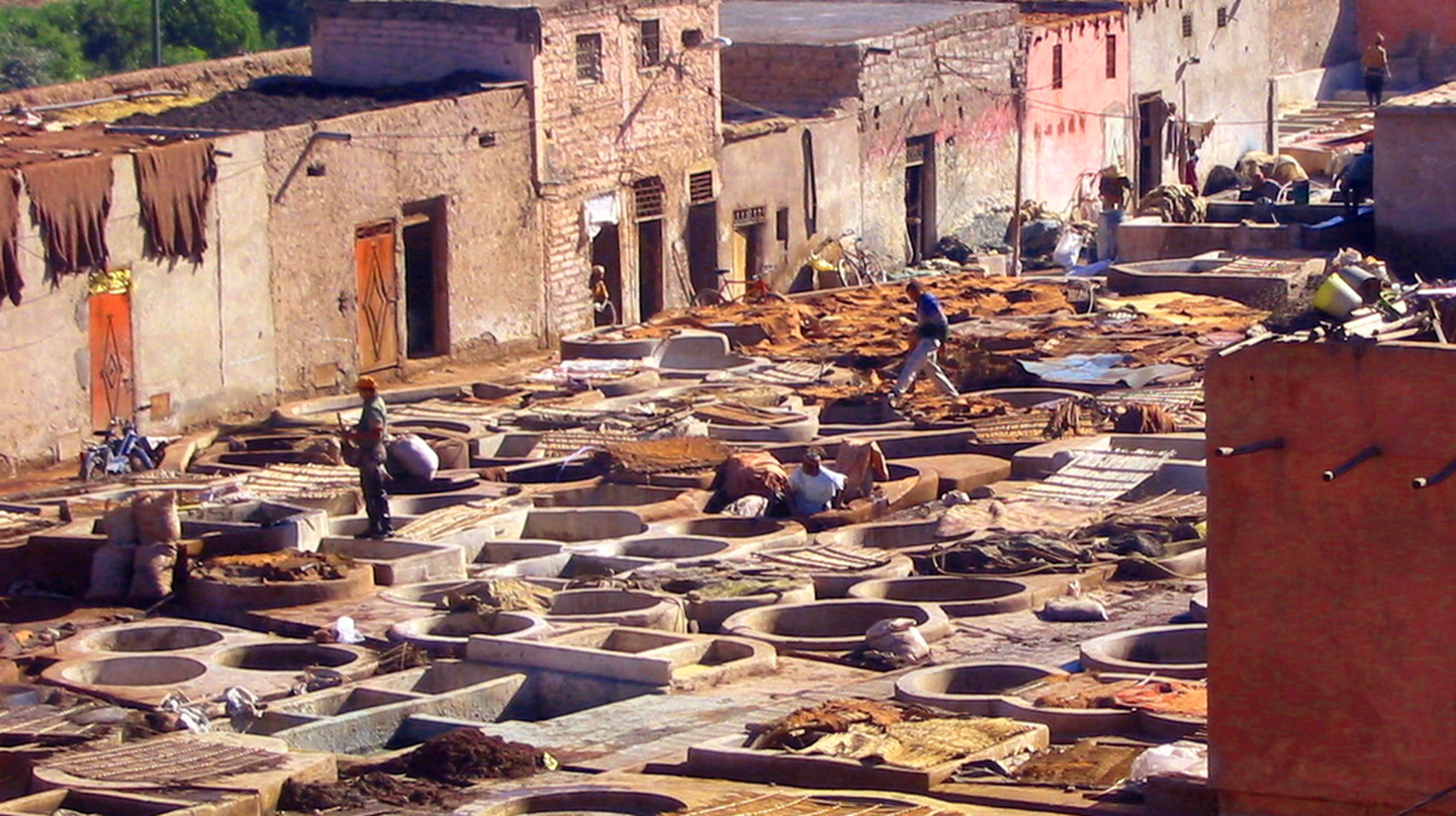 Marrakech tanneries ©Karderio / WikiCommons