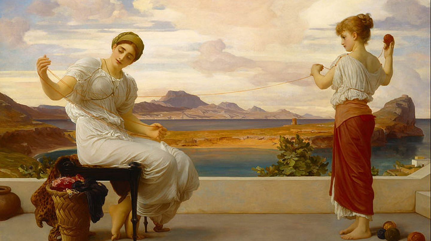'Winding the Skein' by Lord Frederic Leighton, 1878|Wikicommons