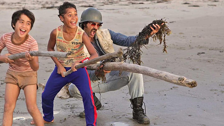 Alamein, Boy and Rocky in the film Boy   © Whenua Films/Unison Films/New Zealand Film Production Fund/New Zealand Film Commission/New Zealand On Air/Te Mangai Paho