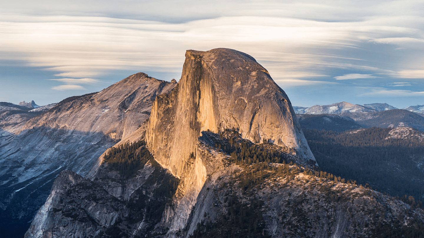 Half Dome as viewed from Glacier Point, Yosemite National Park, California, United States   © Diliff/Flickr