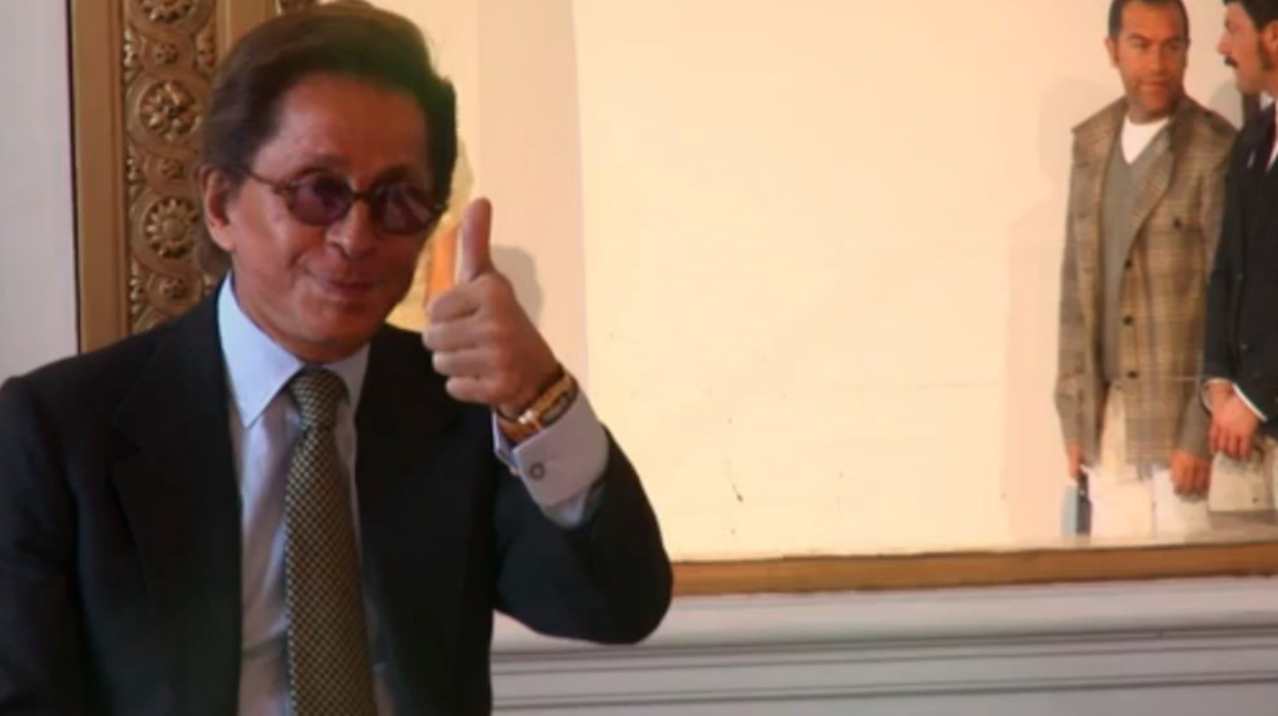 Valentino, designer in a screenshot from the fashion documentary Valentino: The Last Emperor