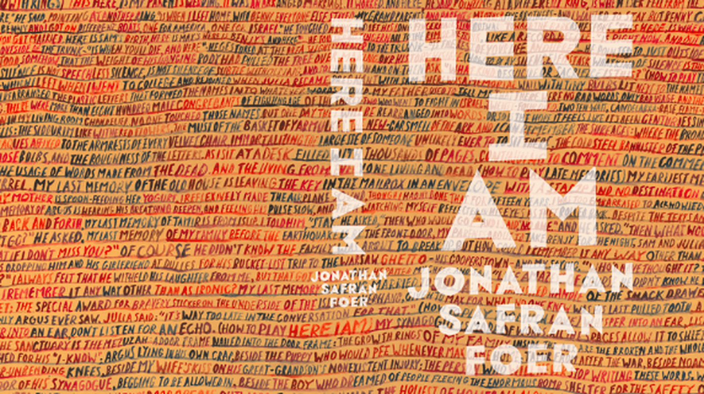 Cover of Jonathan Safran Foer's Here I Am, designed by John Gray (gray318), courtesy of FSG and Hamish Hamilton