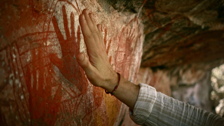 Aboriginal Australia Welcome Film - Davidson's Arnhemland Safaris, Rock Art, Mt Borradaile, NT   Courtesy of Tourism Australia © Warwick Thornton / Brendan Fletcher