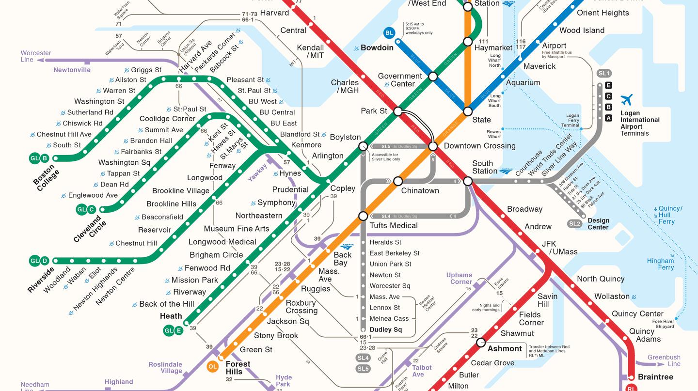 MBTA Map| © Michael Kvrivishvili/WikiCommons