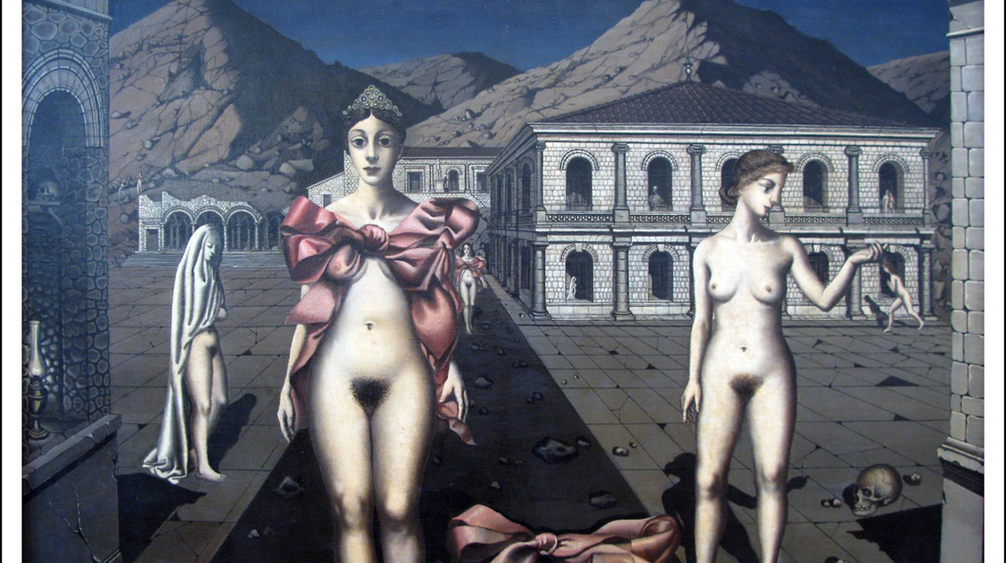 "Paul Delvaux ""De roze strikken"" 1937 