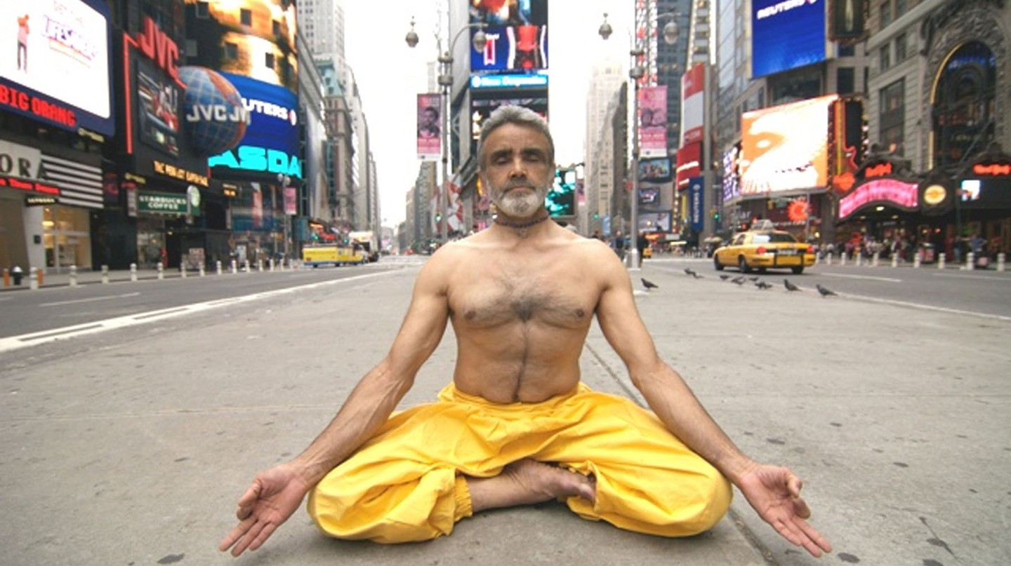 Sri Dharma Mittra in Times Square
