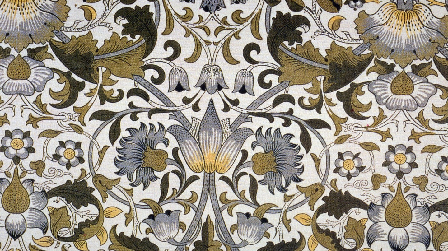 'Lodden', printed textile designed by William Morris|Wikicommons