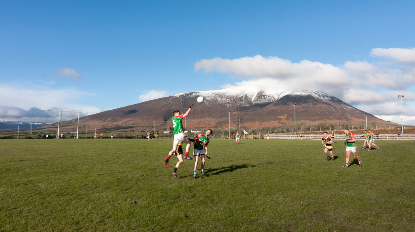 Lahardane Mchales v Ballina Stephenites in the North Mayo Junior Football League | © Paul Carroll