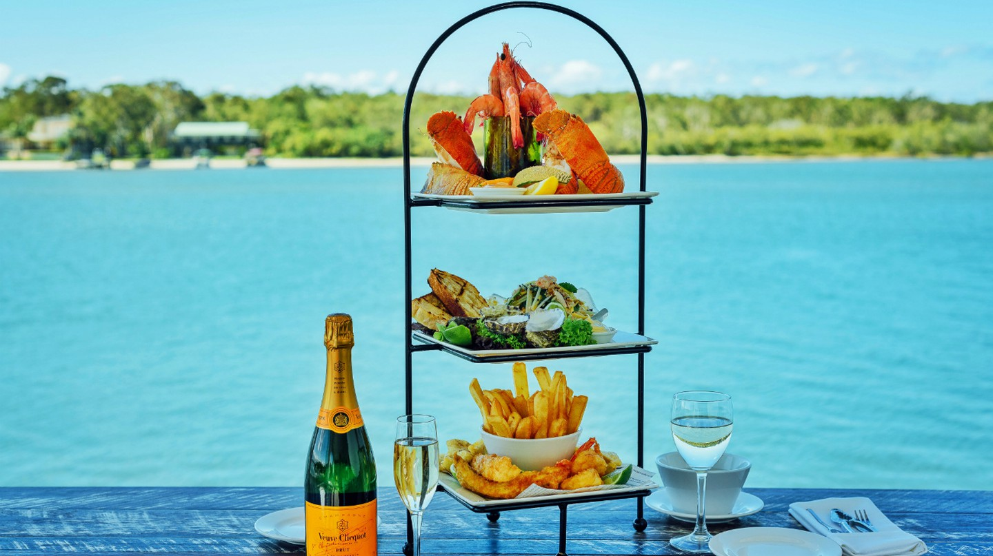 Famous Seafood Tower | Courtesy of Noosa Boathouse