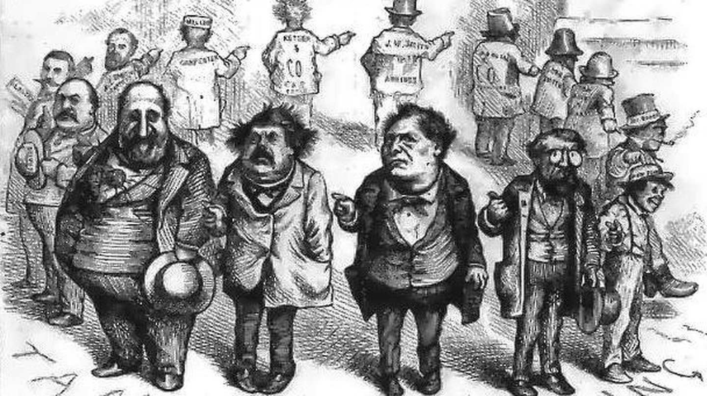 Boss Tweed and the Tammany Ring, caricatured by Thomas Nast | Beyond My Ken/Wikipedia Commons