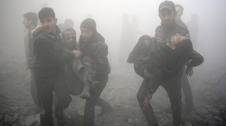 Aftermath of Airstrikes in Syria, 2015. © Sameer Al-Doumy.