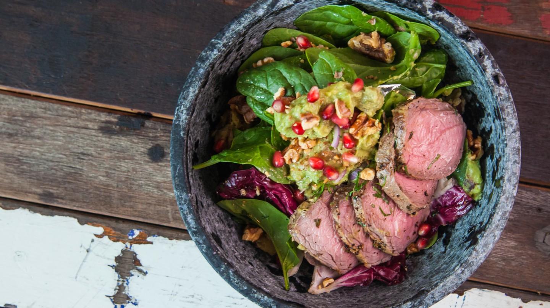 Slow Roasted Beef & Homemade Guacamole | Courtesy of Pimp My Salad