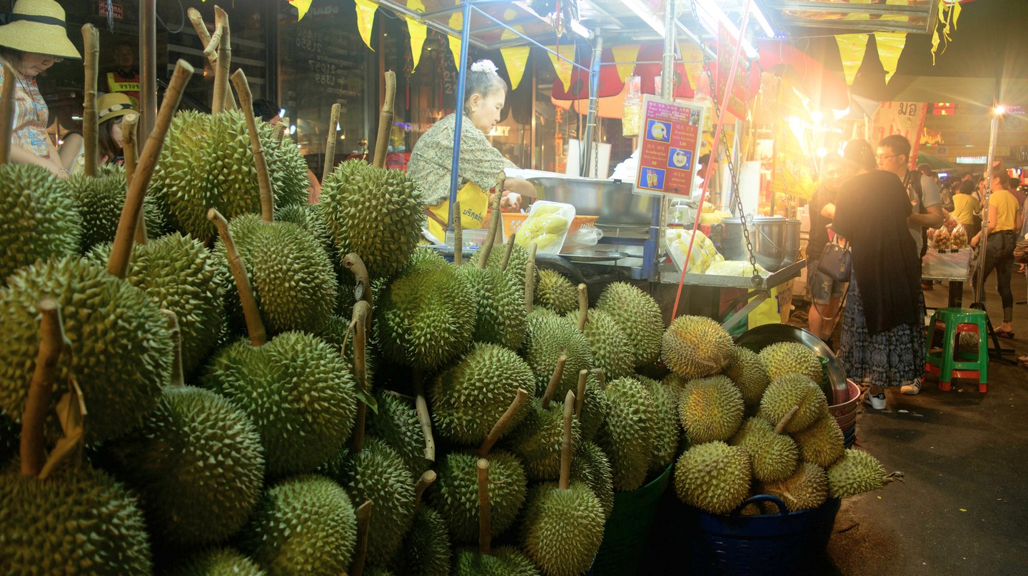 Durian for sale off Yaowarat Road in Chinatown | © Courtesy of Kelly Iverson