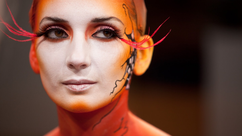 Makeup Design students display Halloween makeup | © VFS/Flickr