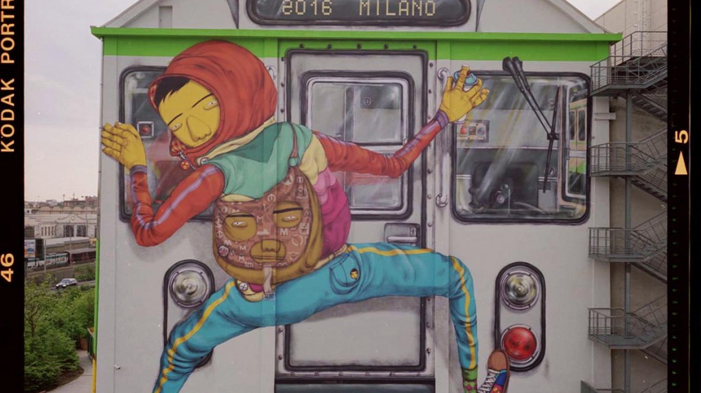 OSGEMEOS mural at the Pirelli Hangar Bicocca in Milan | © Courtesy of OSGEMEOS