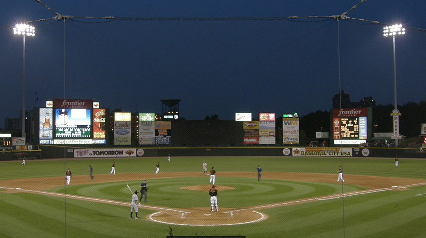 Frontier Field, home to the Rochester Red Wings, was officially declared haunted in 2004 by paranormal researchers | © Wikimedia Commons