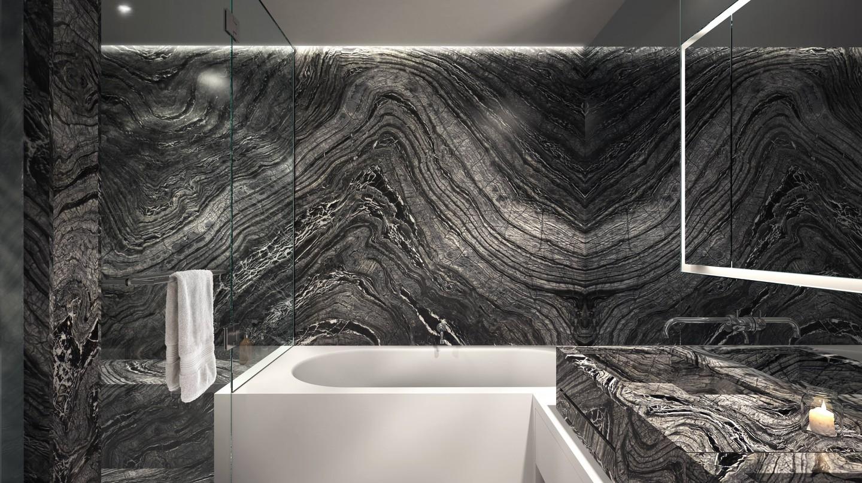 Kenya Black Honed Marble © Three Hundred Collins