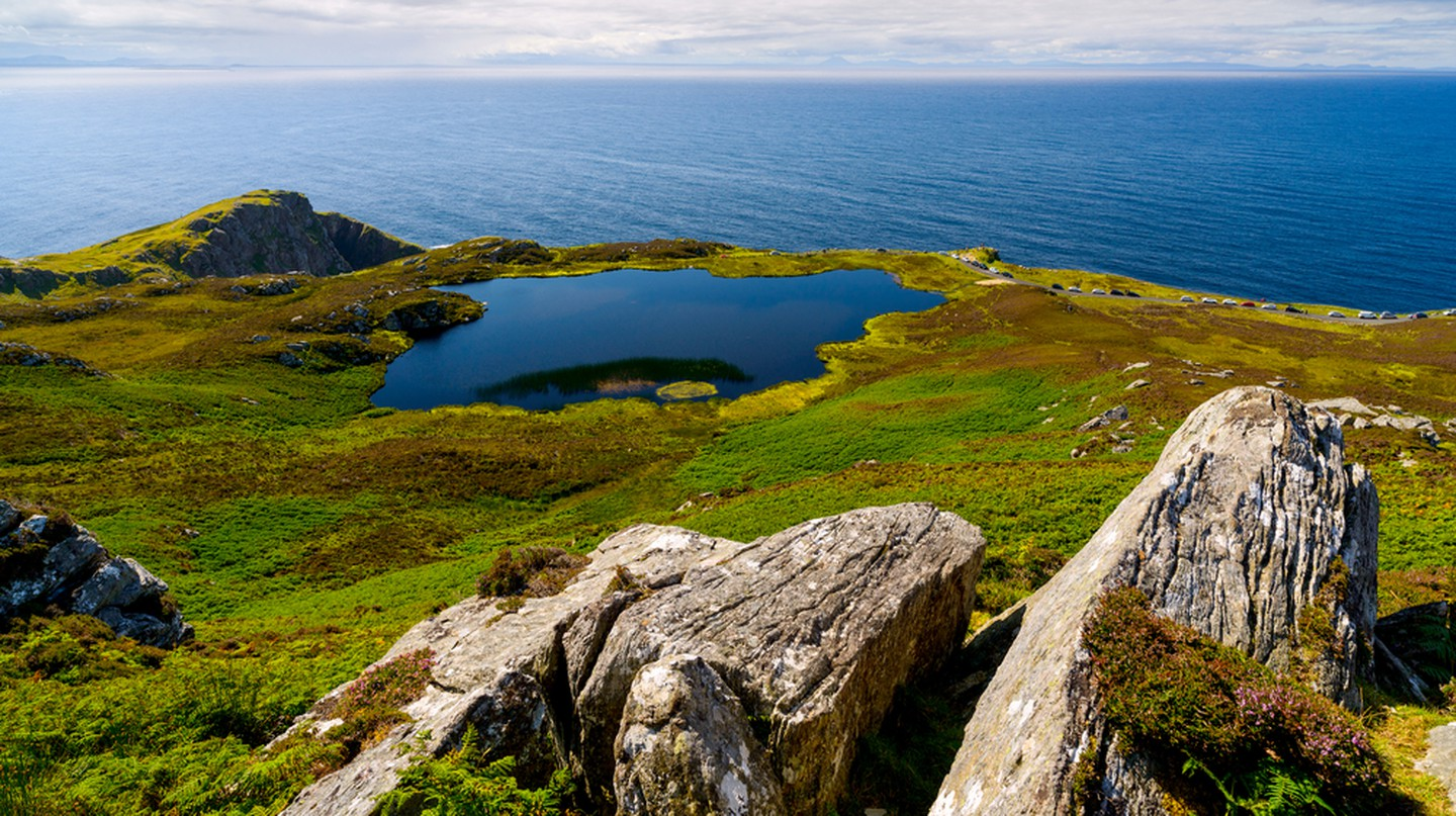 Irish landscape with rocks, lake and sea, County Donegal © Alexilena / Shutterstock