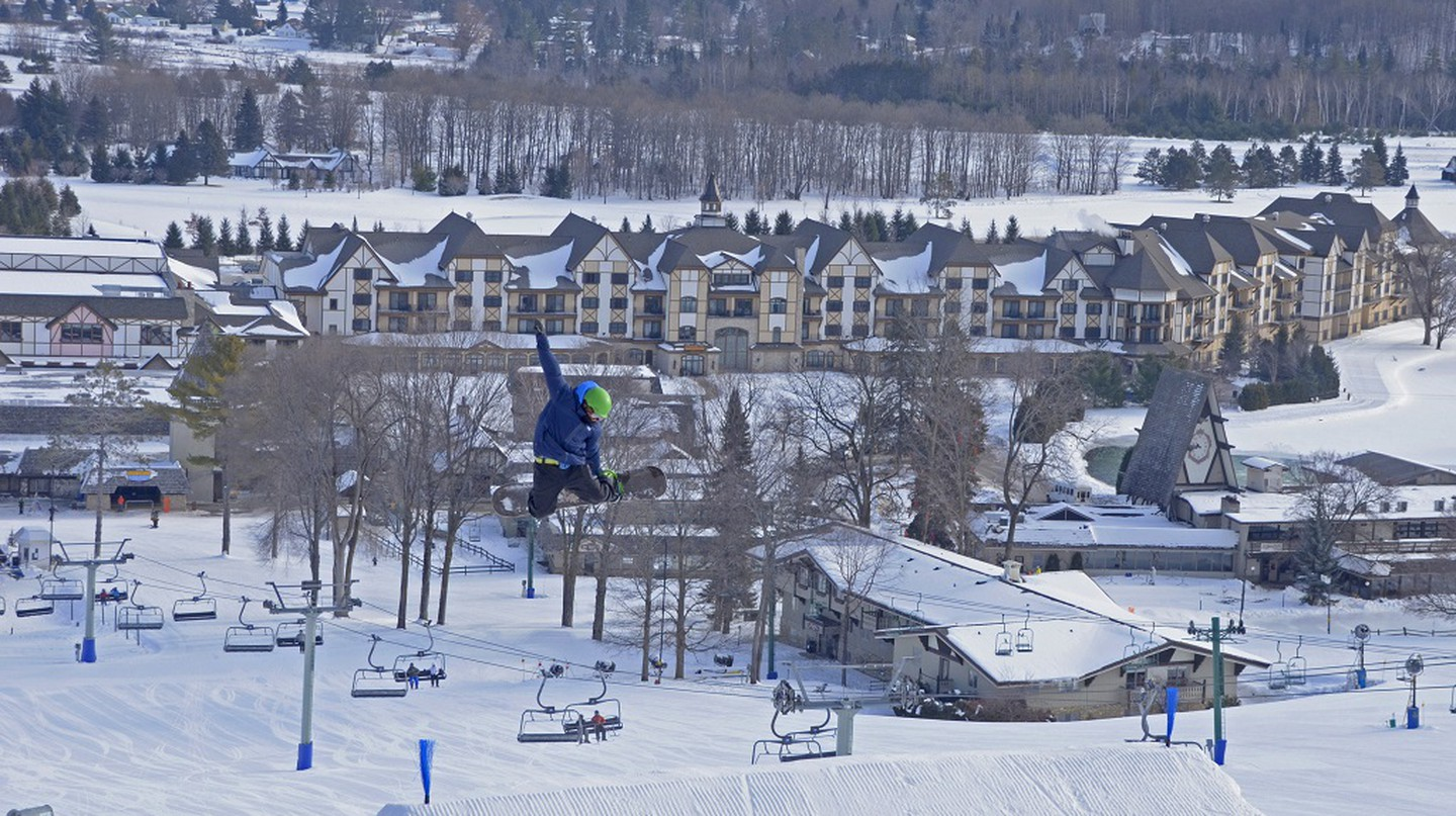 A snowboarder in action | Courtesy of Boyne Mountain