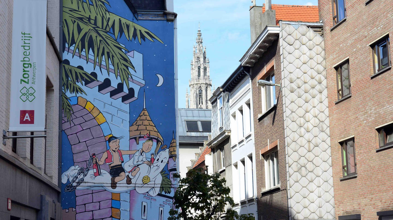 The Wonderful Comic Strip Walls of Antwerp