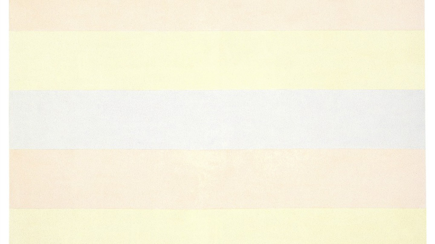 Agnes Martin Untitled #5, 1998 Acrylic paint and graphite on canvas, 152.4 x 152.4 cm Kunstsammlung Nordrhein-Westfalen, Düsseldorf. Acquired with assistance from the Gesellschaft der Freunde, numerous artists and art dealers and with special support from the guests of the dinner of 3 December 2011. © 2016 Agnes Martin/Artists Rights Society (ARS), New York