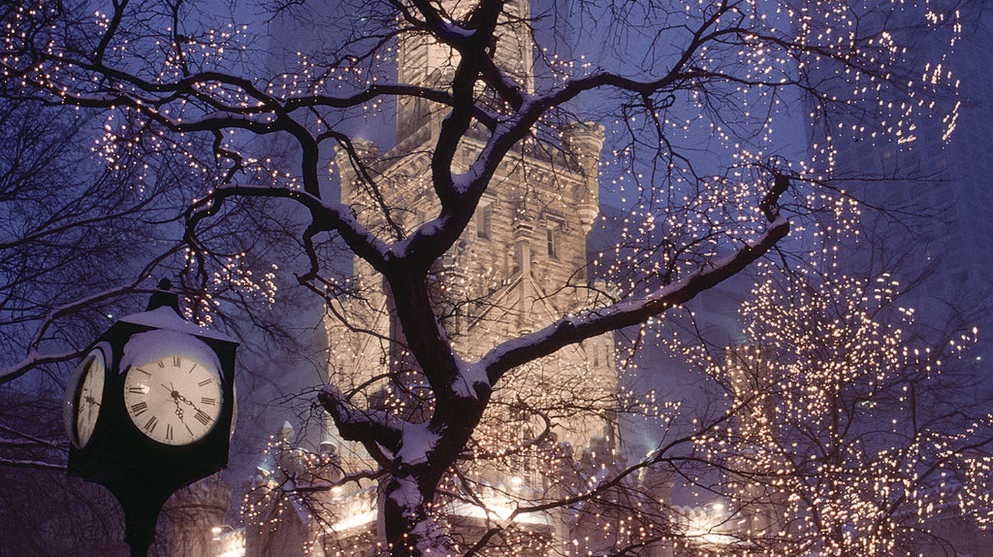 Winter at Chicago's historic Water Tower, courtesy of WikiCommons