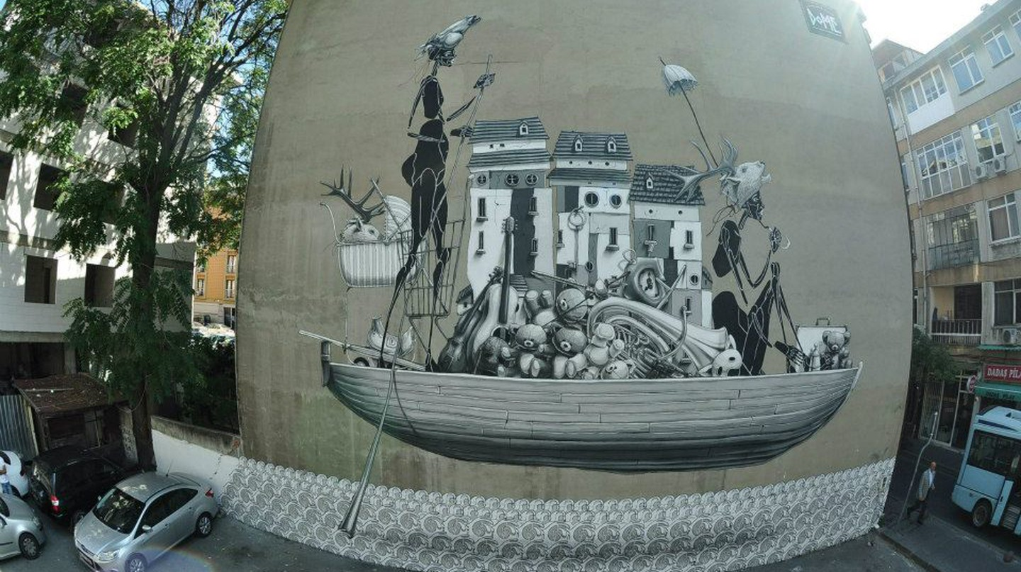 Dome Mural/Courtesy of Mural Istanbul