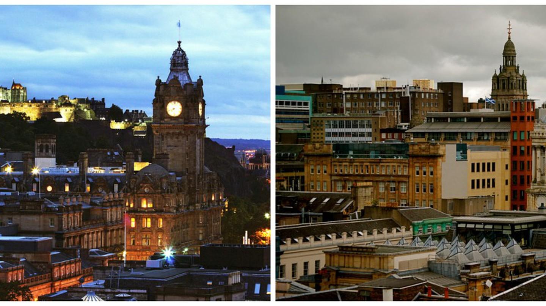 Edinburgh   © Dimitry B./Flickr // Glasgow   © karendesuyo/Flickr