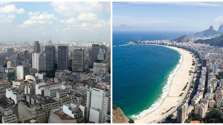 Sao Paulo |© Rodrigo Soldon/WikiCommons | Rio de Janeiro |© bisonlux/WikiCommons