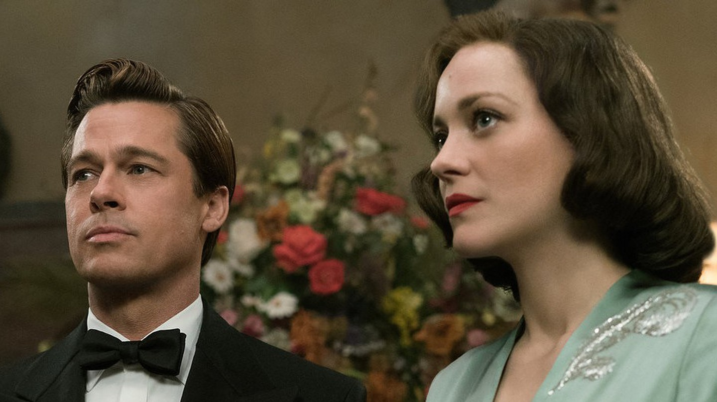 Brad Pitt plays Max Vatan and Marion Cotillard plays Marianne Beausejour in Allied | © Paramount Pictures.