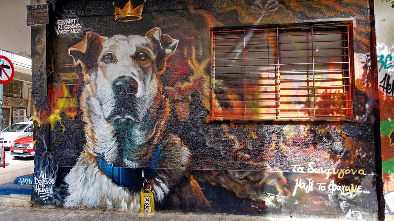 Loukanikos on Riga Palamidou St., Psyrri. Work by Billy Gee, Alex Martinez & N_Grams    © Dimitris Kamaras/Flickr