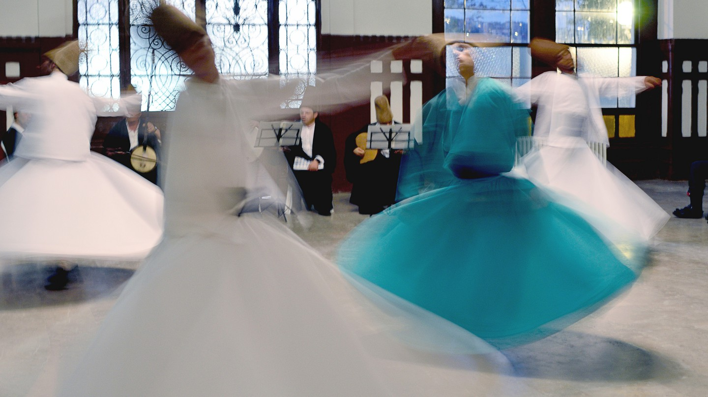 An emotionally-charged whirling dervishes performance