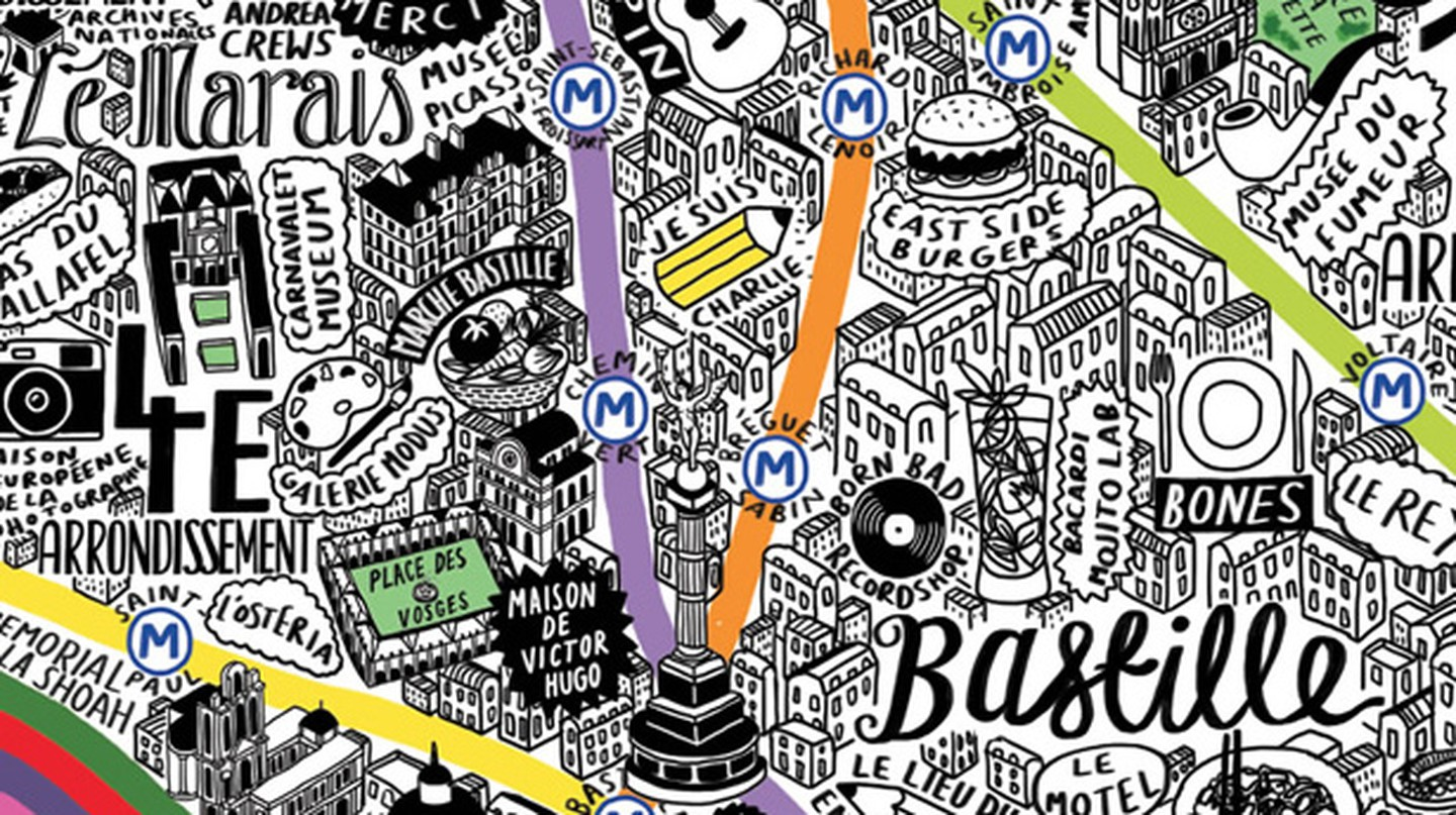 This Is The Most Beautiful Map Of Paris You Will Ever See