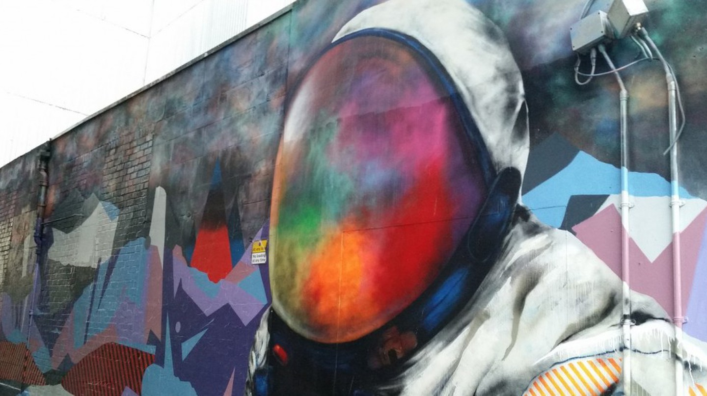 Spaceman Street Mural In Glasgow | © Michel Curi/Flickr