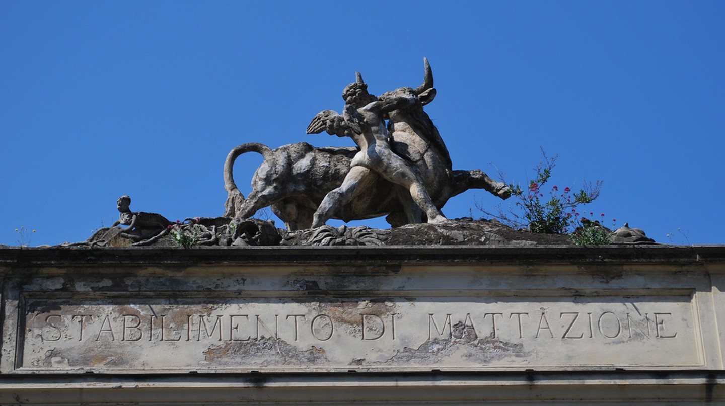 Entrance to the old slaughterhouse, Testaccio   © malcolmm/Flickr